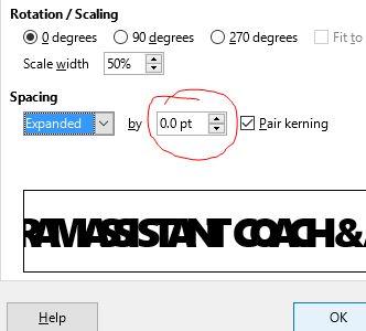 adjust spacing libre ofice
