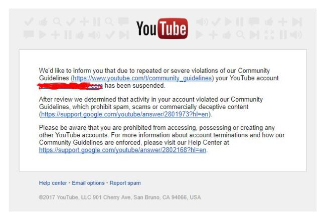 falsely_reported_channel_youtube